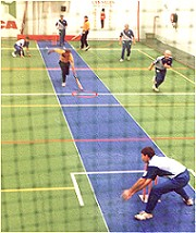 A close call - WA vs NSW indoor cricket match, Adelaide 1998