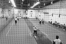 WA vs NSW - inside an indoor cricket net